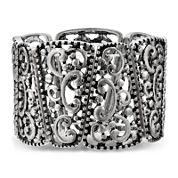 Mixit™ Scroll Silver-Tone Wide Stretch Bracelet