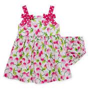 Bonnie Jean® Sleeveless Pink Cherry Sundress - Baby Girls newborn-24m
