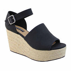 Michael Antonio Greight Womens Wedge Sandals