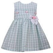 Bonnie Jean Short Sleeve Cap Sleeve A-Line Dress - Baby