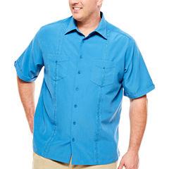 Havanera Short Sleeve Panel Button-Front Shirt-Big and Tall