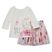 Disney Girls 2-pc. Short Sleeve Skirt Set