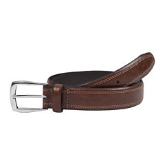 Dockers® Tan Leather Belt w/ Contrast Stitching