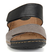 softspots® Panama Two-Strap Wedge Sandals