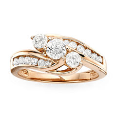 tw diamond 10k rose gold ring - Jcpenney Jewelry Wedding Rings