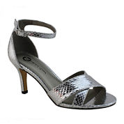 Michael Antonio Rees Metallic Snake Print Sandals