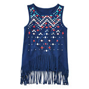 Arizona Fringe Bottom Tank Top - Toddler Girls 2t-5t