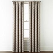 JCPenney Home™ Quinn Lattice Rod-Pocket/Back-Tab Curtain Panel