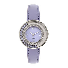 Womens Floating Stone See-Through Watch