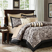 Madison Park Wellington 12-pc. Complete Bedding Set with Sheets Collection