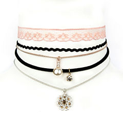 Arizona Womens Multi Color Choker Necklace