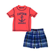 Carter's Pattern Rash Guard Set - Preschool