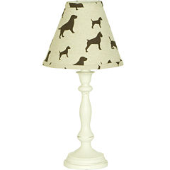 Cotton Tale Houndstooth Lamp