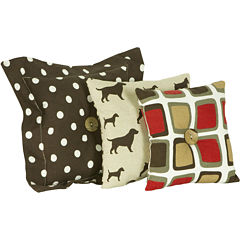 Cotton Tale Houndstooth 3-pc. Pillow Set