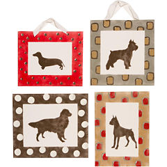 Cotton Tale Houndstooth 4-pc. Wall Art