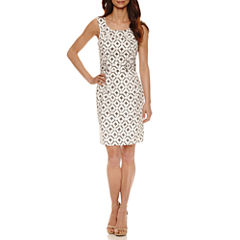 Robbie Bee Sleeveless Sheath Dress