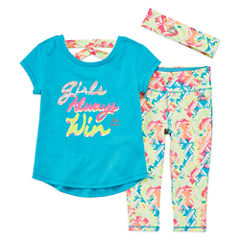 Rbx 3-pc. Legging Set-Preschool Girls