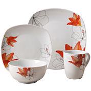 Tabletops Gallery® Lily 16-pc. Ceramic Dinnerware Set