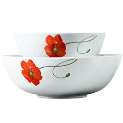 Tabletops Gallery® Poppy 2-pc. Serving Bowl Set