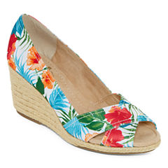 St. John's Bay® Carlen Peep-Toe Wedges