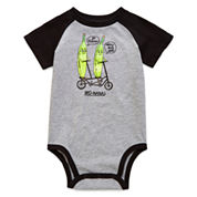 Okie Dokie® Short-Sleeve Raglan Bodysuit - Baby Boys newborn-24m