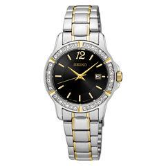 Seiko Womens Two Tone Bracelet Watch-Sur716