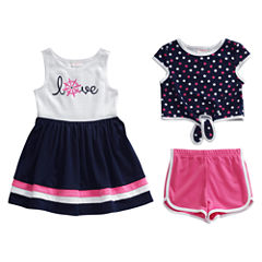 Young Land 3-pc. Short Set Girls