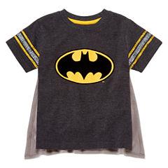 Short Sleeve Crew Neck Batman T-Shirt-Toddler Boys