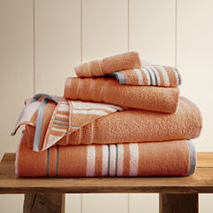 Pacific Coast Textiles Racer Stripe Yarn Dyed 6-pc. Bath Towel Set