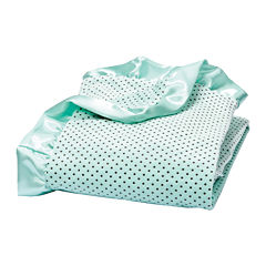 Trend Lab® Mint Polka Dot Velour Blanket
