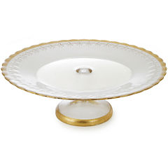 Cake Stand with Gold Decoration