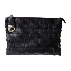 Olivia Miller Woven Top-Zip Convertible Clutch