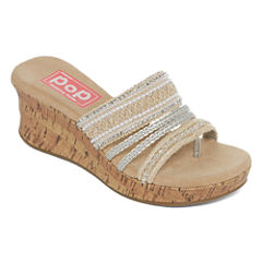 Pop Kern Womens Wedge Sandals
