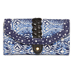 City Streets Twin Print Tri Fold Wallet