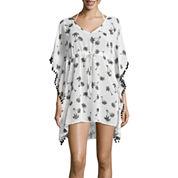 Arizona Pattern Chiffon Swimsuit Cover-Up Dress-Juniors