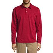 St. John's Bay Long Sleeve Solid Performance PoloShirt