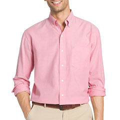 IZOD Oxford Solid Long Sleeve Button-Front Shirt