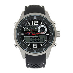 U.S. Polo Assn.® Mens Black Silicone Strap Analog/Digital Sport Watch