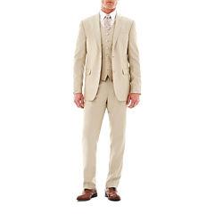 JF J. Ferrar® Khaki Shimmer Suit Separates- Classic Fit
