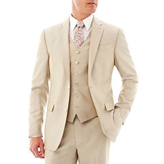 JF J. Ferrar® Khaki Shimmer Shark Suit Jacket - Slim Fit