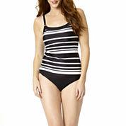 St. John's Bay® Striped Camikini Swim Top or Swim Bottoms