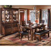 Signature Design By Ashley® Larchmont 6 Pc Dining Set