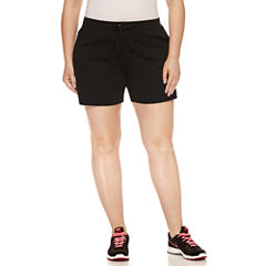 Spalding Loose Fit Cotton Blend Bermuda Shorts-Plus
