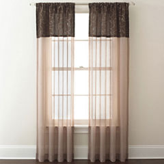 Westgate Two-Tone Sheer Rod-Pocket Curtain Panel