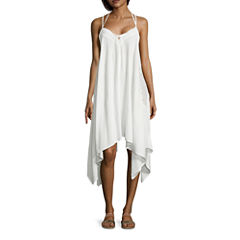 a.n.a Embroidered Solid Swimsuit Cover-Up Dress