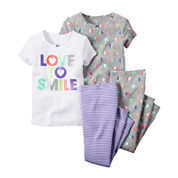 Carter's® Smile 4-pc. Pajama Set - Toddler Girls 2t-5t
