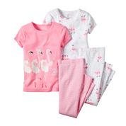 Carter's® Flamingo 4-pc. Pajama Set - Toddler Girls 2t-5t