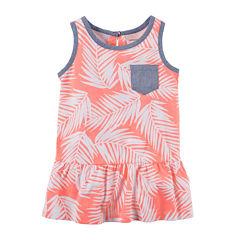 Carter's® Sleeveless Palm Print Peplum Tunic - Preschool Girls 4-7