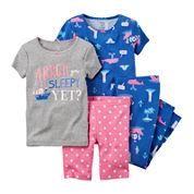 Carter's® 4-pc. Pirate Pajama Set - Toddler Girls 2t-5t