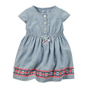 Carter's® Short-Sleeve Chambray Dress - Baby Girls newborn-24m